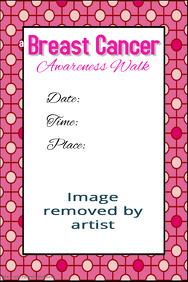 Breast Cancer Awareness Walk Fundraiser Poster Template