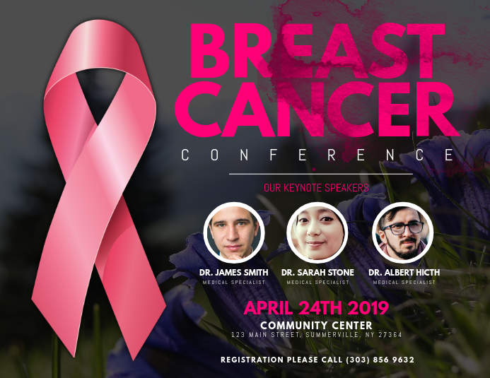 Breast Cancer Conference Flyer