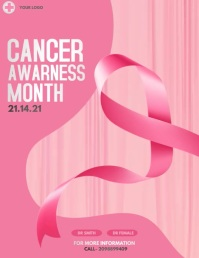 Breast cancer day,Cancer day Flyer (US Letter) template