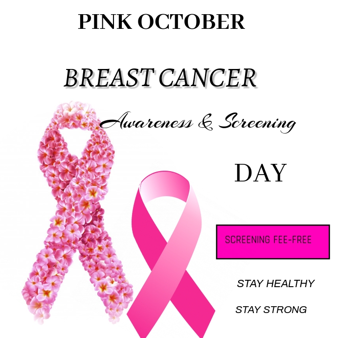 Breast Cancer Instagram na Post template