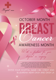 Breast cancer A4 template