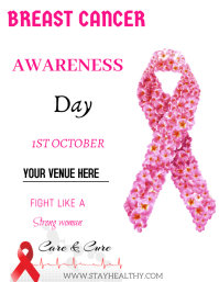 Breast cancer ใบปลิว (US Letter) template