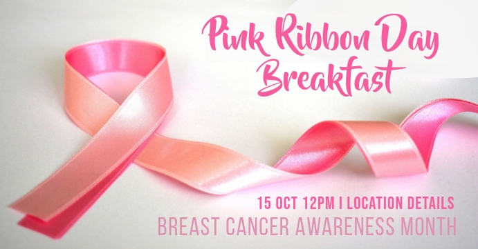 Breast Cancer Facebook 活动封面 template