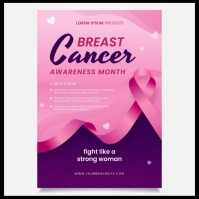 Breast cancer Logo template