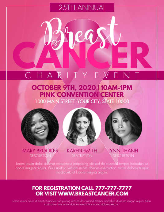 Breast Cancer Flyer (Letter pang-US) template