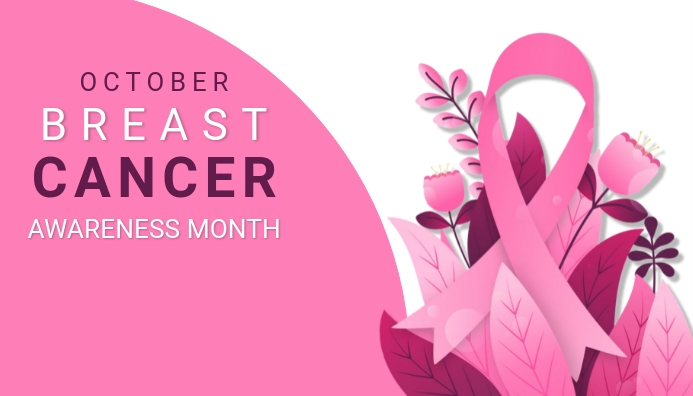 Breast cancer, world cancer day Header ng Blog template