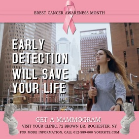 Breast Cancer Early Detection Square Video
