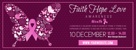 Breast Cancer Event Invite Banner Facebook-Cover template