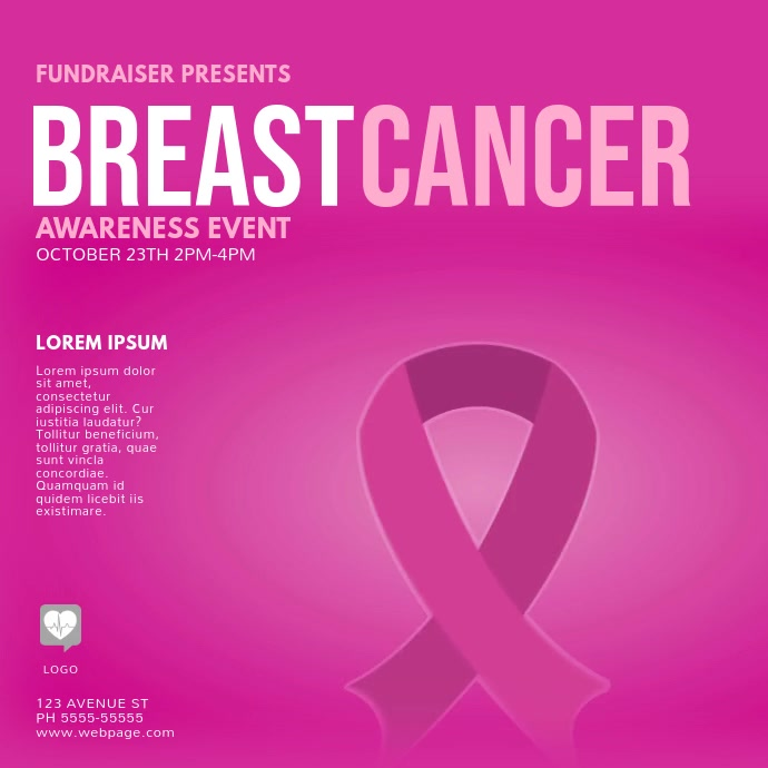 Breast Cancer Event Video Design Template