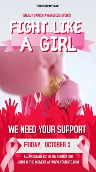 Breast Cancer Fight Portrait Digital Display Video