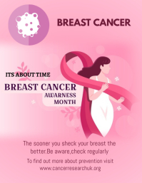 BREAST CANCER FLYER ใบปลิว (US Letter) template
