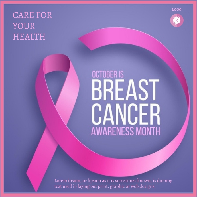 BREAST CANCER FLYER Square (1:1) template
