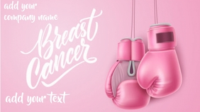 breast cancer flyer Twitter Post template
