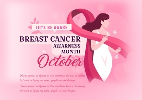 BREAST CANCER FLYER Postcard template