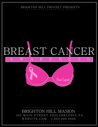 Customizable Design Templates for Breast Cancer | PosterMyWall
