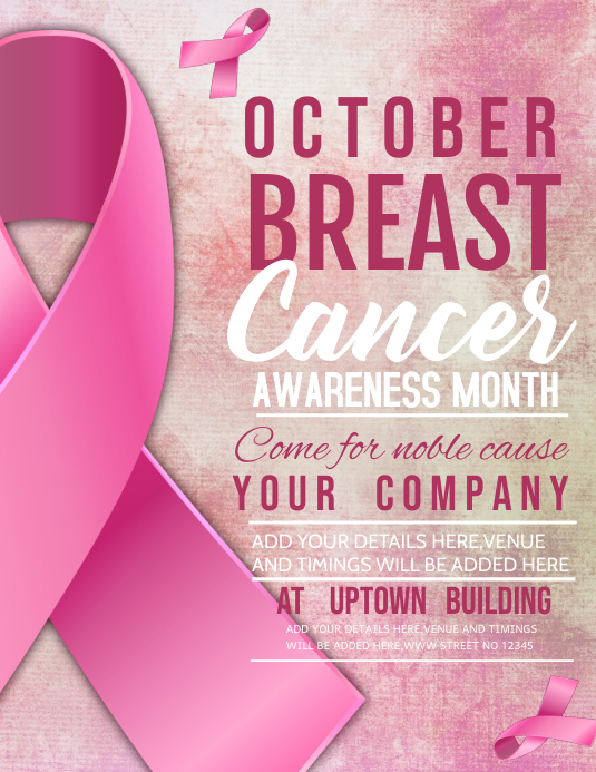 breast cancer flyers,event flyer Рекламная листовка (US Letter) template