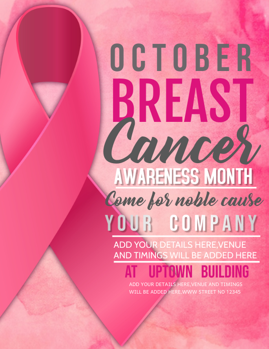 breast cancer flyers,event flyer Pamflet (VSA Brief) template