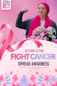 breast cancer flyers,event flyer Poster template