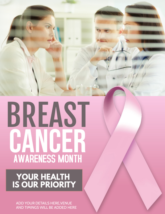 breast cancer flyers,event flyer