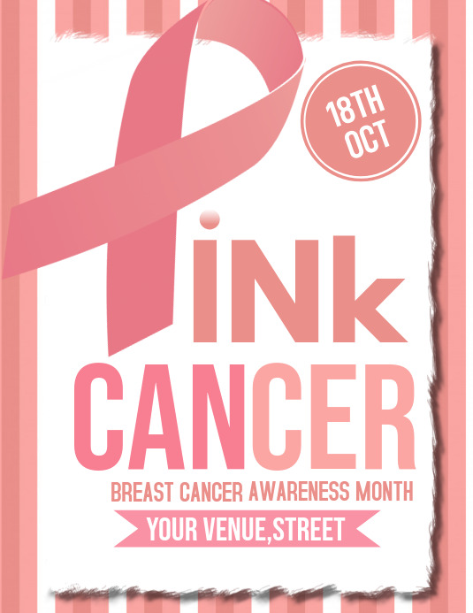 Breast cancer flyers,event flyers
