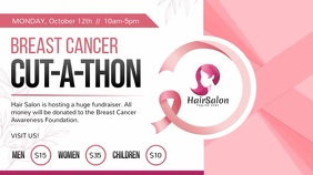 Breast Cancer Fundraiser Digital Display Vide Ekran reklamowy (16:9) template
