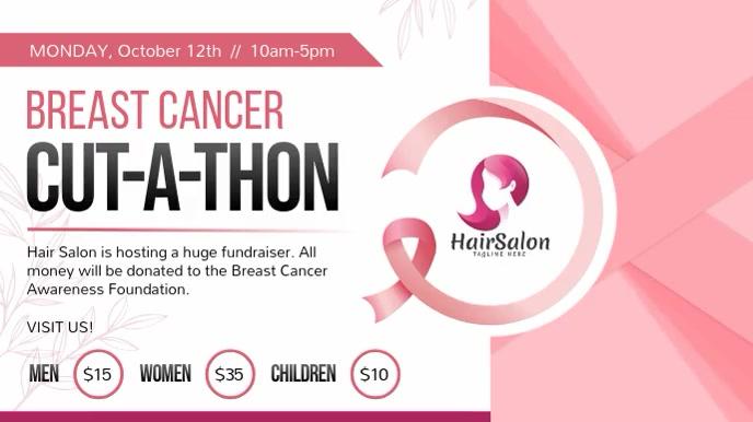 Breast Cancer Fundraiser Digital Display Vide template