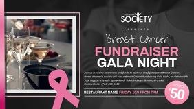 Breast Cancer Fundraiser Facebook Cover Video