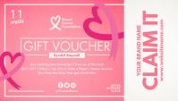 Breast Cancer Gift Voucher Template Visitenkarte