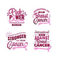 Breast cancer logo/flower Logotyp template
