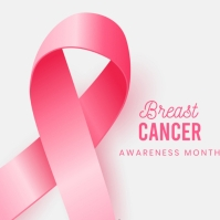 Breast cancer logo/flyer template