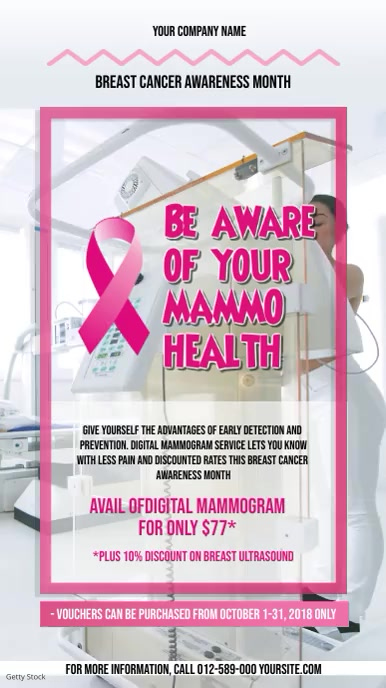 Breast Cancer Mammogram Portrait Video