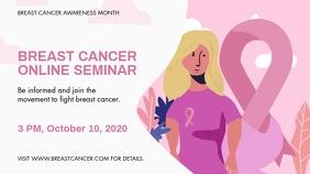 Breast Cancer Online Seminar Banner Ekran reklamowy (16:9) template