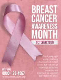 Breast Cancer Pink October Flyer