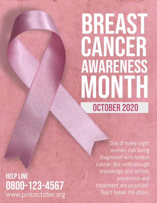 Breast Cancer Pink October Flyer