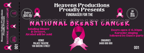 BREAST CANCER TICKET Facebook Cover Photo template