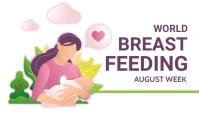 Breastfeeding week,Breastfeeding awareness Blog-Kopfzeile template
