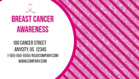 Breast Cancer Awareness Business Card template