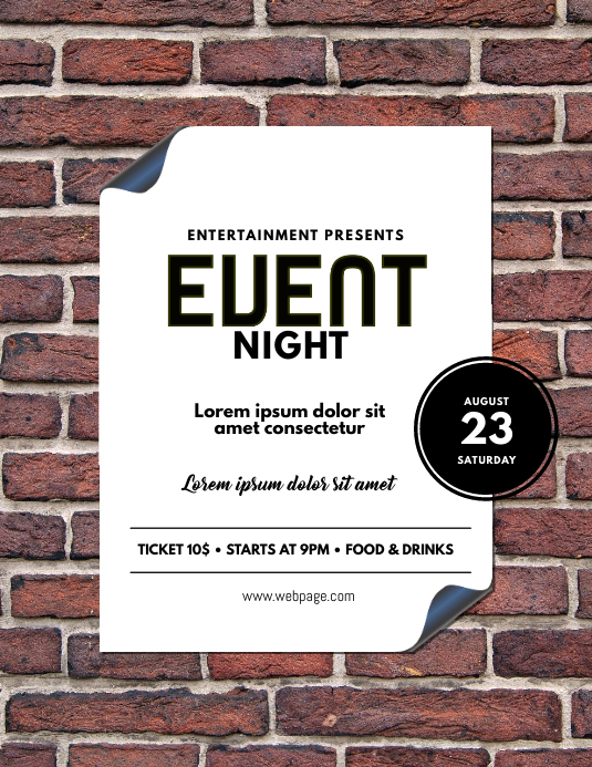 Brick Event Flyer Template