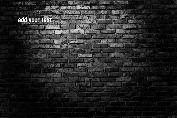 Brick Wall Poster template