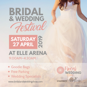 Bridal and Wedding Festival Instagram Post