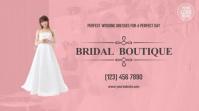 Bridal Boutique Pantalla Digital (16:9) template