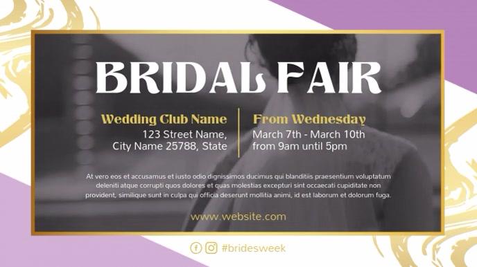 Bridal Fair Ad Wedding Club Digital Display Video template