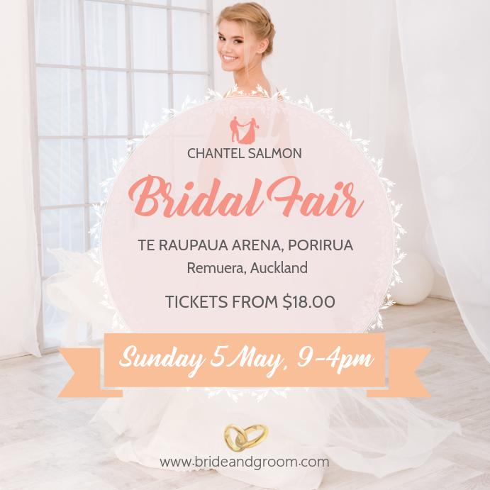Bridal Fair Wedding Exhibition Instagram Post template