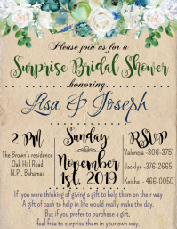 Bridal Invite -Shabby Chic