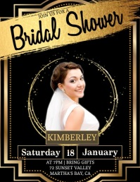 BRIDAL party invitation Template Flyer (US Letter)