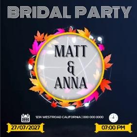 BRIDAL PARTY SOCIAL MEDIA TEMPLATE