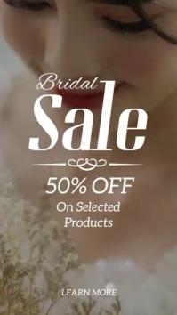 Bridal sale wedding dress instagram story ad template