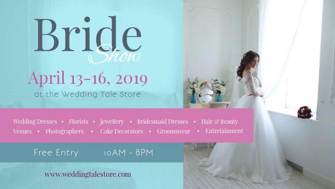 Bridal Show Wedding Exhibition Facebook Cover Video template