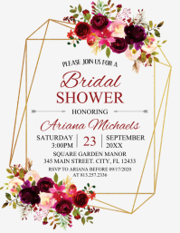 BRIDAL SHOWER Ulotka (US Letter) template