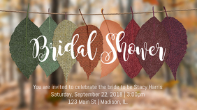 Bridal Shower Fall Invitation Ecrã digital (16:9) template